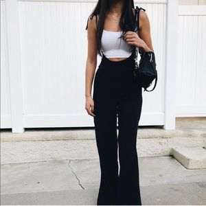 Wide Leg Overall Jumpsuit (Black)
